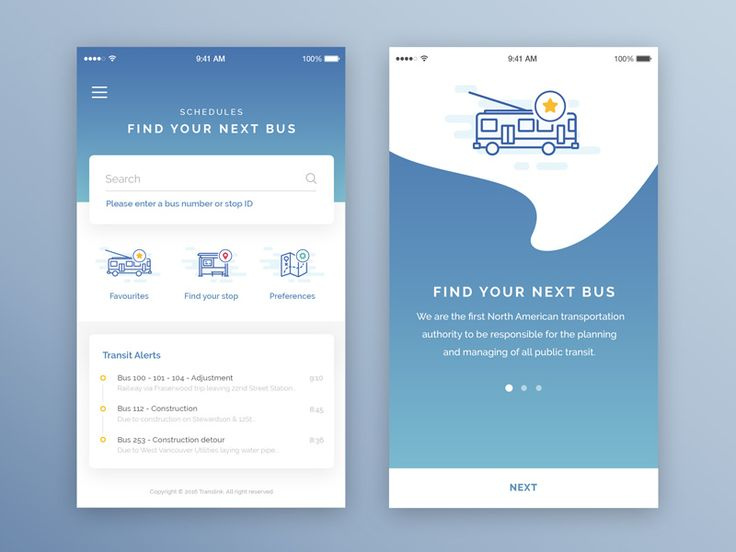 Bus mobile app  by Elise Jaspard