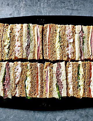 Afternoon Tea Sandwich Fingers (20 Sandwich Fingers) Food