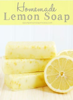 DIY LEMON SOAP Awaken your Senses with this Creamy Anti-Oxidant Soap –-Increases Blood Circulation and Removes Dead Skin Cells -Made With Lemon Zest