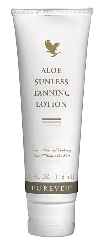 Forever Living - Aloe Sunless Tanning Lotion. Provides a natural-looking, streak-free, even tan without the damage of UV rays. Moisturises the skin on application, no unpleasant smell and doesn't rub off on clothes.