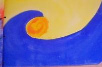 Waldorf ~ 2nd grade ~ Watercolor Painting ~  The Story of Fish Sun - Barbara Costalunga