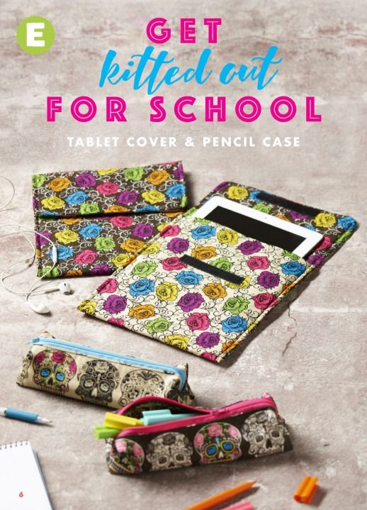Tablet cover & Pencil case - Click through for instructions