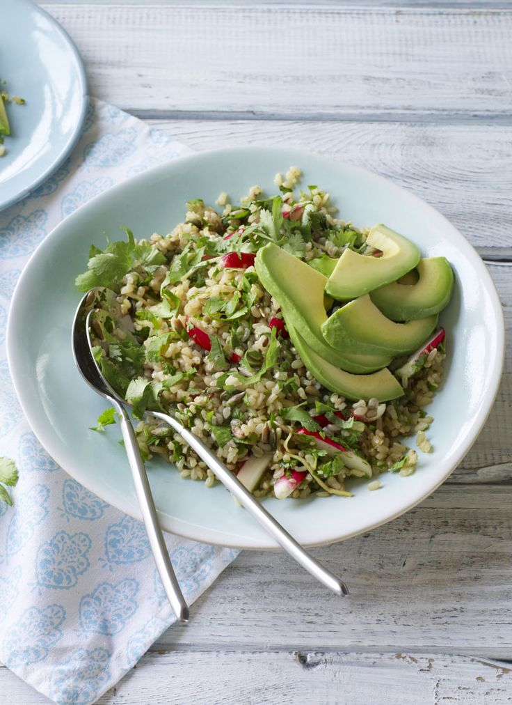 A rice bowl is a wondrous thing, but often – despite the simplicity of its title – a rather cluttered and complicated one. Here, Nigella has pared it back, to make a gorgeously seasoned rice bowl, with nothing more than a few seeds, herbs and radishes stirred through it, and an avocado to top it.