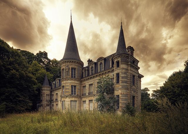 Incredible abandoned chateau in France.