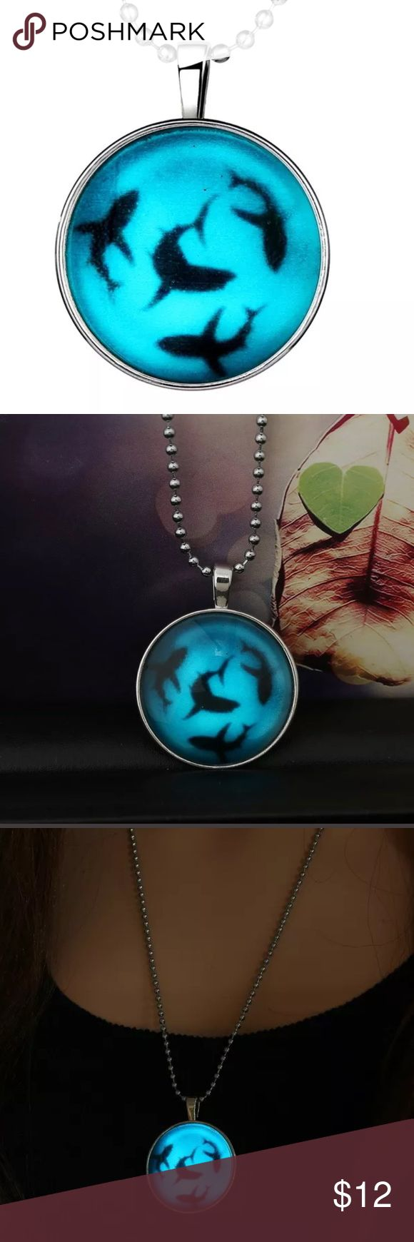 Shark Glow in the Dark Cabochon New Shark Glow in the Dark Cabochon New Posherpooch Jewelry Necklaces