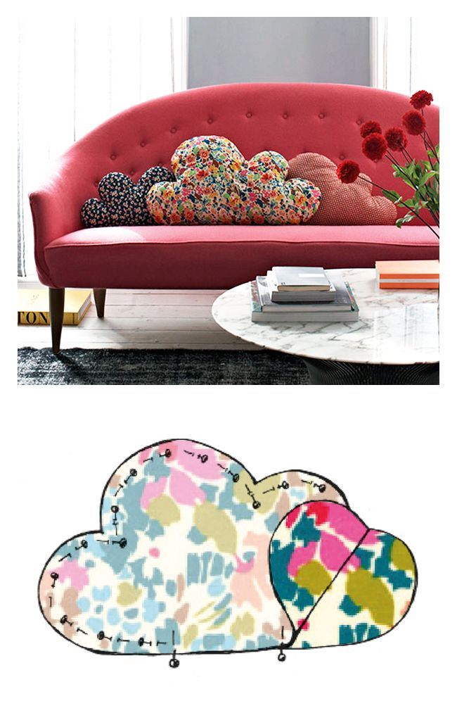 tuto gratuit coussin nuage - Make your own cloud cushion - tutorial & free template