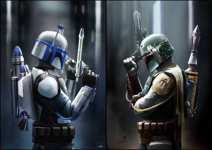 Jango & Boba Fett by Andy Fairhurst