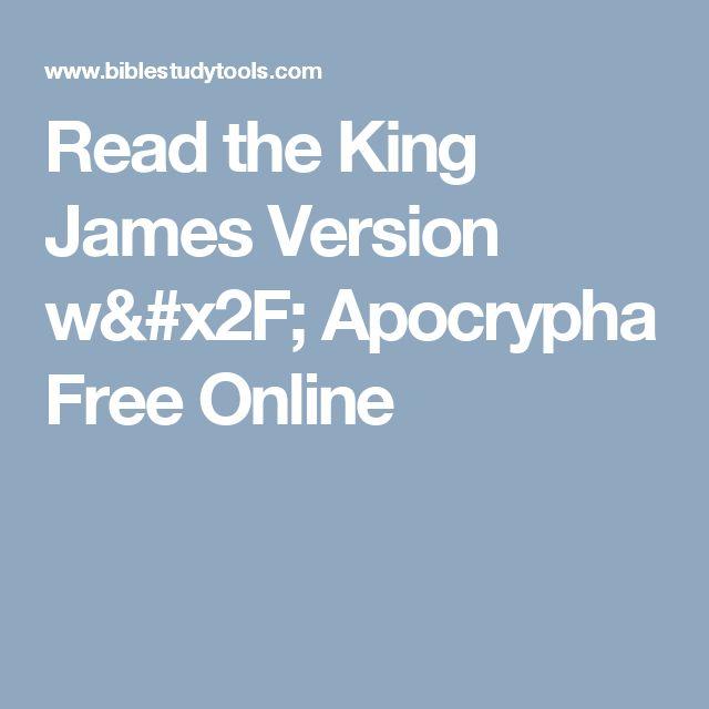 Read the King James Version w/ Apocrypha Free Online