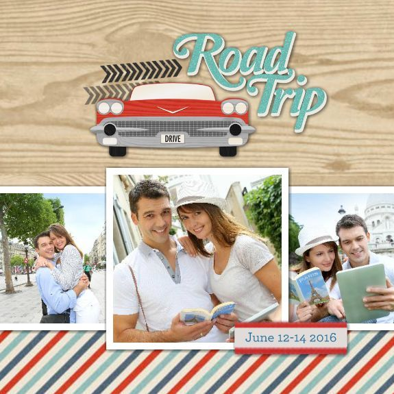 A really simple way to preserve photos and memories of a road trip!  This is a little 6x6 wirebound flip book.  Template 144598 at www.heritagemakers.com/jenniferwise