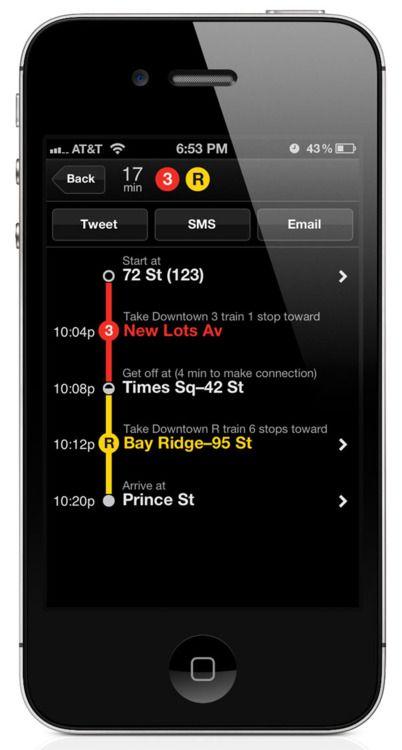 Embark, a fantastic transit app