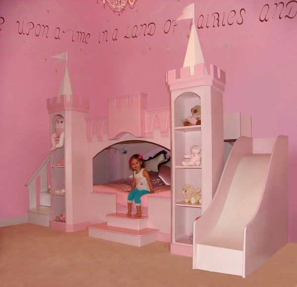 My girls would love to sleep in a princess castle bed!  Kids Furniture | Girls Beds| Boys Beds |Princess Furniture| Princess Rooms |Childrens Bedroom Furniture| Sweet Dream Bed Children's Interiors- Custom Children's Theme Beds and Children's Furniture