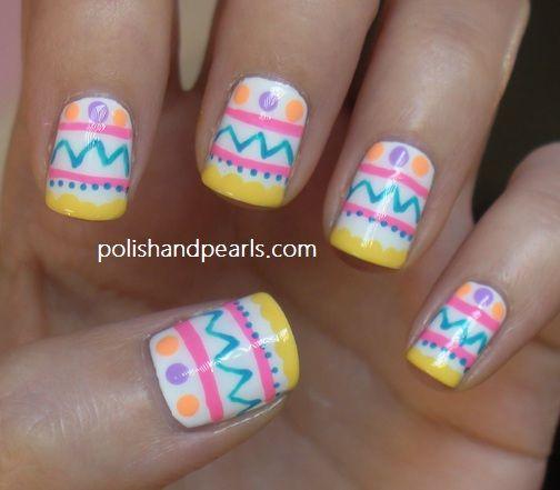 Kbshimmer Spring 2014 Chevron Dot Nail Art Easter Design: 59 Best Easter Nails Images On Pinterest