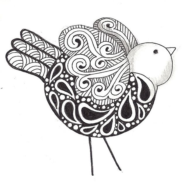 Zentangle bird