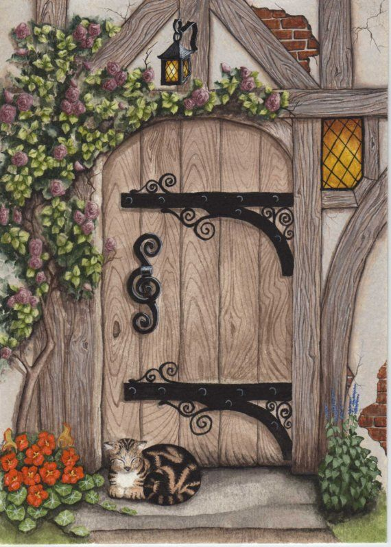 I would like this to be the door into my future cottage!!! :)