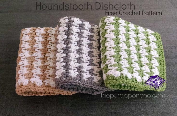 . Houndstooth Dishcloth Crochet Pattern by Carolyn Calderon...FREE PATTERN!!