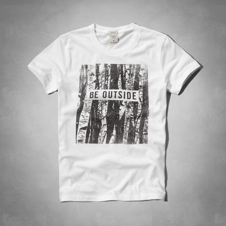 Mens Be Outside Graphic Tee | Mens Graphic Tees | Abercrombie.com ---- This says Men's but I want it :)