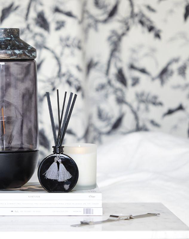 A.U Maison AW17. #aumaison #interior #homedecor #styling #danishdesign #bedroom #lamp #scentedcandle #diffuser #lamp bedsidetable