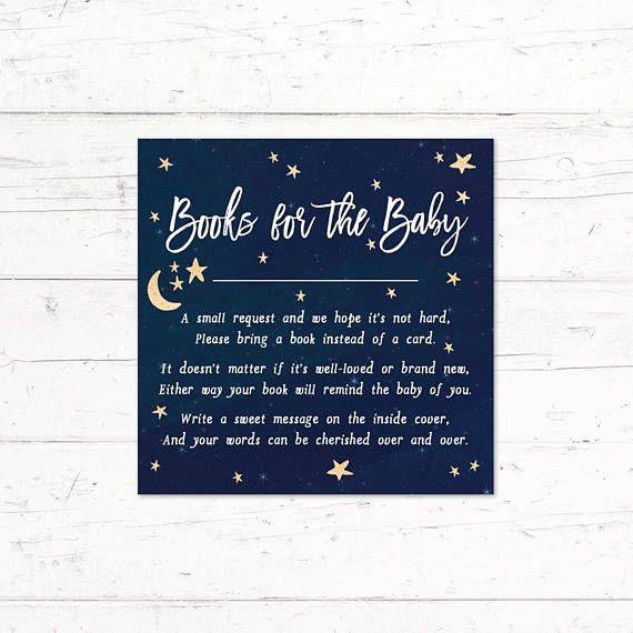 Little Star Books for Baby Insert Boy Twinkle Twinkle Little Star Baby Shower Insert Twinkle Twinkle Little Star Books for Baby Card