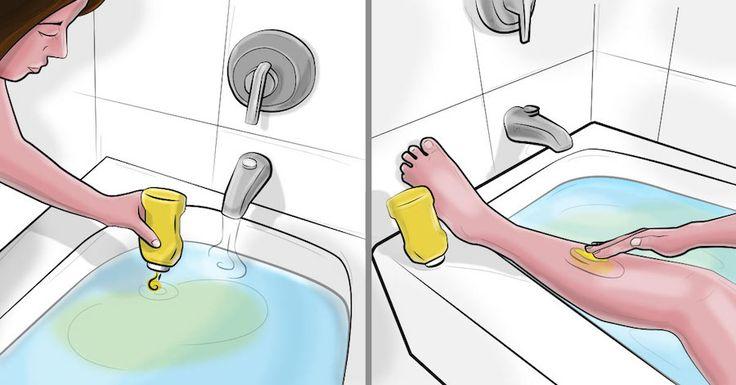 Ze gooit een beetje mosterd in haar badkuip. De reden hiervoor? Ik geloof mijn ogen niet!