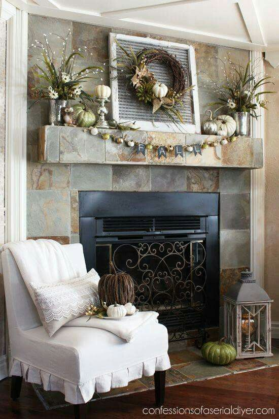 neutral fall palette mantel confessions of a serial