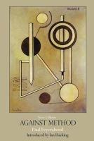 """Against method"" by Paul Feyerabend. Classmark:  IA.FEY 3d"