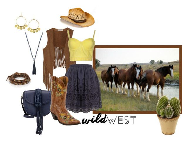 """Wild West!"" by tasha-blondeambition-real ❤ liked on Polyvore featuring W118 by Walter Baker, Altuzarra, Sea, New York, Old Gringo, Baguette....., Feather & Stone, Hipchik, Chan Luu, Nearly Natural and wildwest"