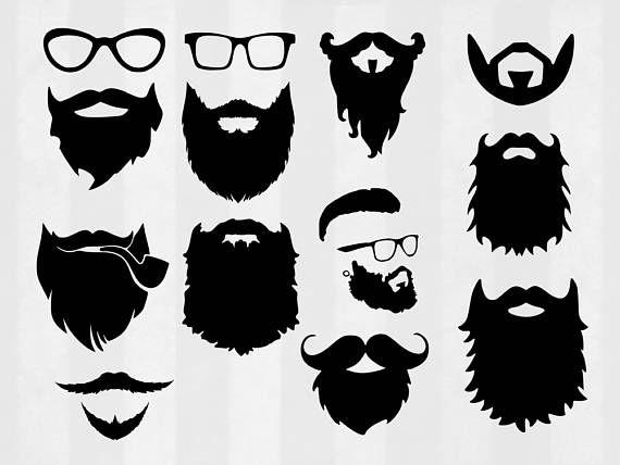 Beard SVG Bundle Beard clipart Beard cut files Hipster svg