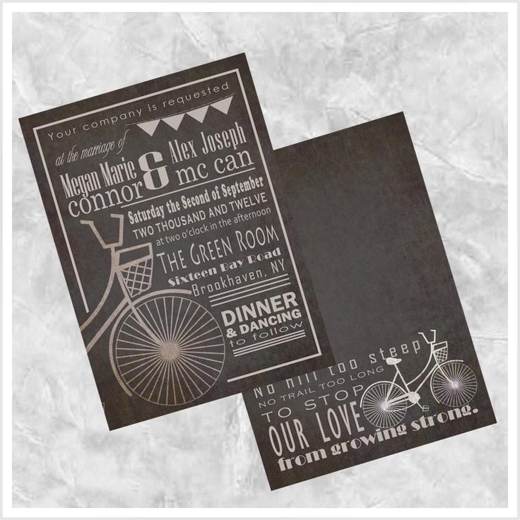 movie ticket stub wedding invitation%0A Bicycle Wedding Invitation         via Etsy