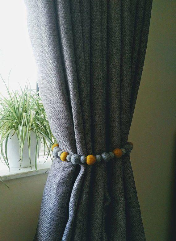 Curtain Tie Backs Felt Ball Curtain Hold Backs Pom Pom Curtains