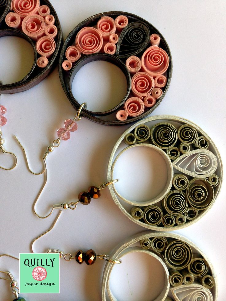 paper earrings Arabesco_08 by QuillyPaperDesign
