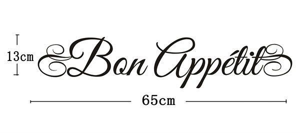Aliexpress Com Buy Free Shipping Home Decor Bon Appetit