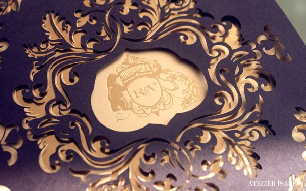 New Years Eve laser cut Wedding Invitation by Atelier Isabey , via Behance