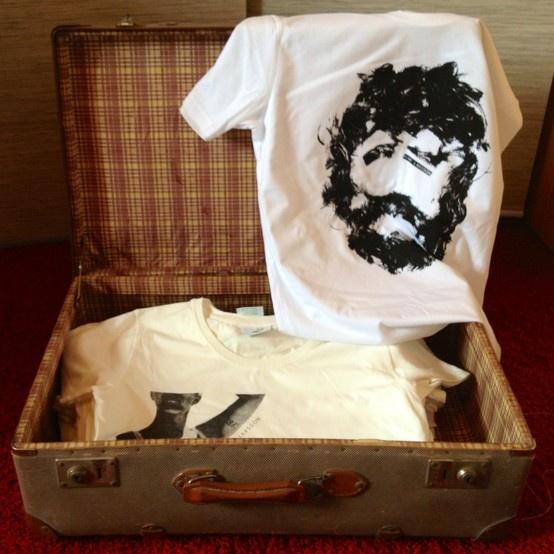white shirt with black print #biobaumwolle #fairtrade #gots #designer
