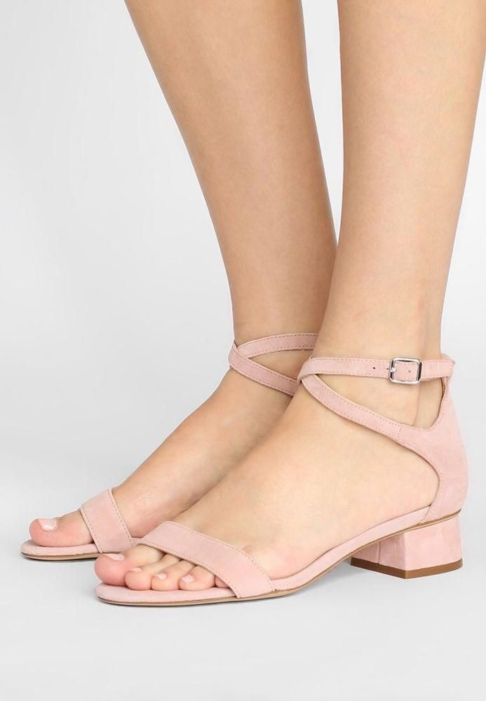 9cdf1c379eb3 LAUREN BY RALPH LAUREN Pink BETHA SUEDE SANDALS MID HEELS sz 9  fashion   clothing  shoes  accessories  womensshoes  sandals (ebay link)   ...