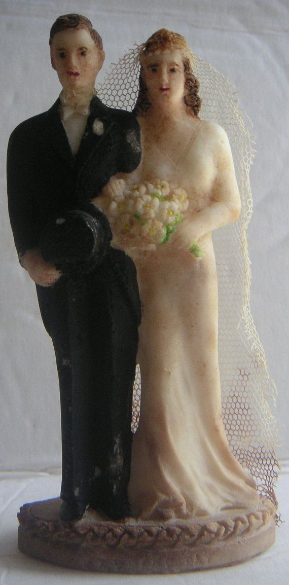 Vintage Wedding Cake Topper 1920s  Wedding by QVintage on Etsy, $50.00Vintage Wedding Cake