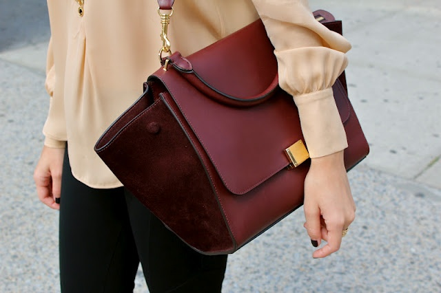 Burgundy Celine bag