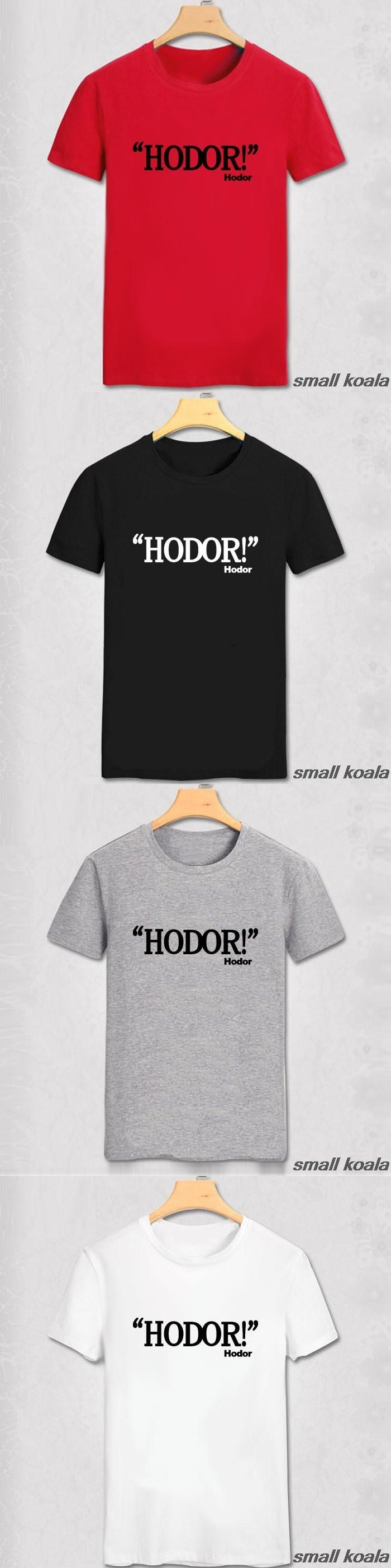 game of thrones shirt Printed Men hodor T Shirt Camisetas Manga Curta Camisa Masculina t-shirt
