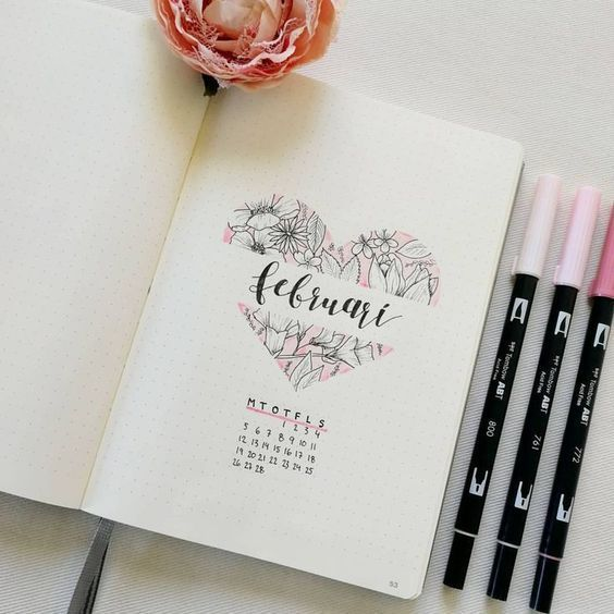 Schöne Aufzählungszeichen-Monatsdeckblätter – #…