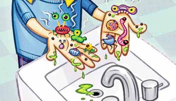 Juego infantil para aprender sobre la higiene personal