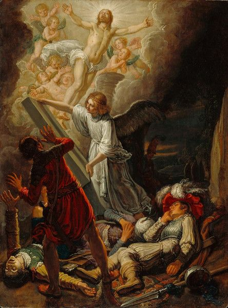 The Resurrection, by Pieter Lastman. Ca. 1612. Oil on panel. On VintPrint.com as a #poster. #religion #painting #christ