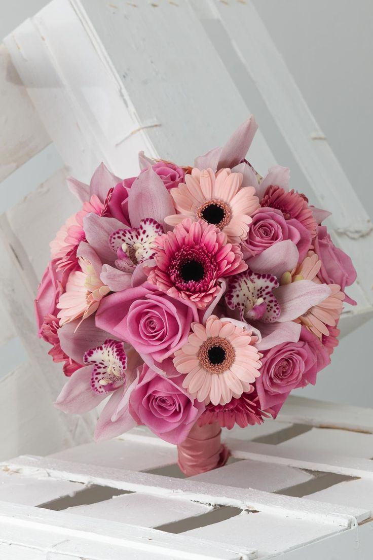 Brautstrauß pink und pink   – Blumen