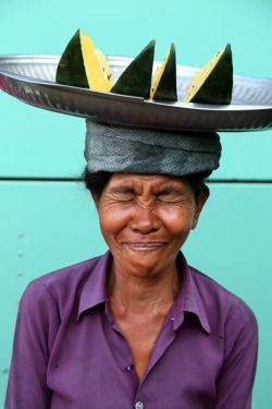 Shy smile from Myanmar