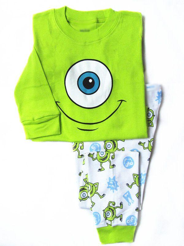 Cheap pajamas ladies, Buy Quality pajamas animal directly from China pajamas wear Suppliers: 1pc retail baby boy spring 2014 green monster pajamas clothes kids pajama sets1 set = tshirt + pant&nbsp