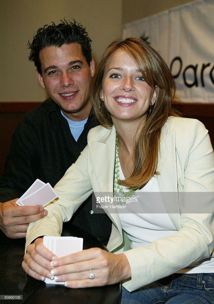 Survivor All Stars winner Amber Brkich and Rob Mariano, aloso a Survivor All Star play at the ParadisePoker.com Celebrity Charity Poker Challenge held at the Palms Hotel on May 23, 2004 in Las Vegas.
