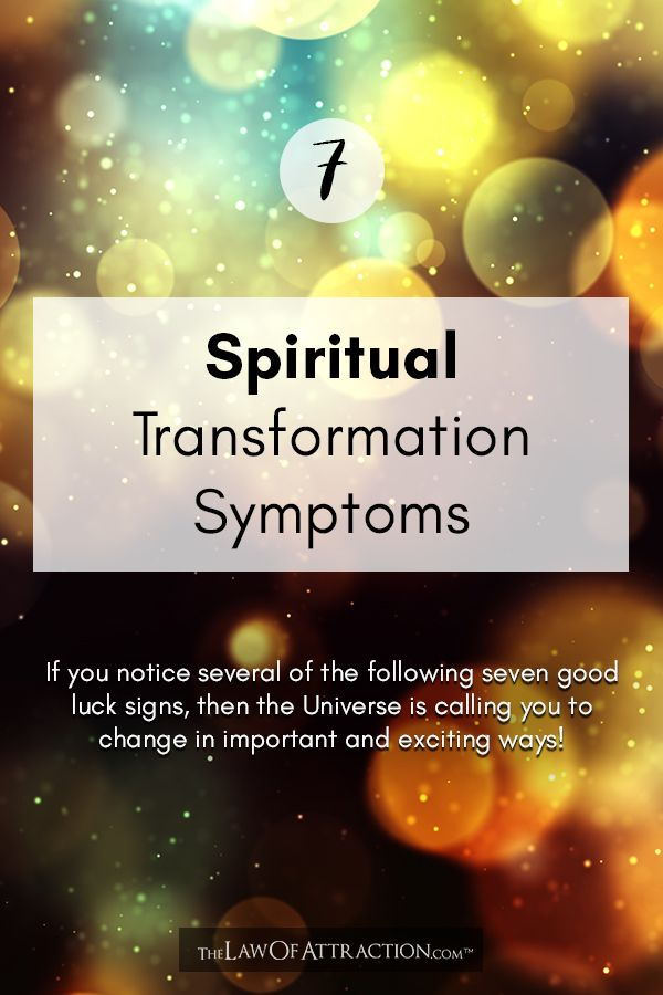 Seven 'Good Luck' Signs And Spiritual Transformation