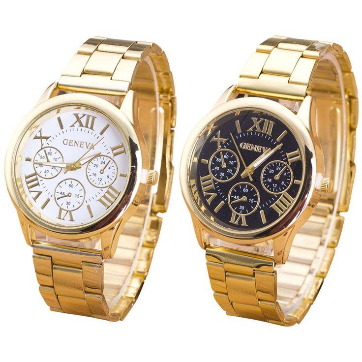 $2.50 (Buy here: https://alitems.com/g/1e8d114494ebda23ff8b16525dc3e8/?i=5&ulp=https%3A%2F%2Fwww.aliexpress.com%2Fitem%2FWomens-Geneva-Watch-Roman-Numerals-Quartz-Gold-Stainless-Steel-Wrist-Band-Watch-Luxury-Casual-Quartz%2F32692389586.html ) Clock Geneva Ladies Watch Roman Numerals Quartz Gold Stainless Steel Wrist Band Men's Watch Casual Quartz Women Watches Women for just $2.50