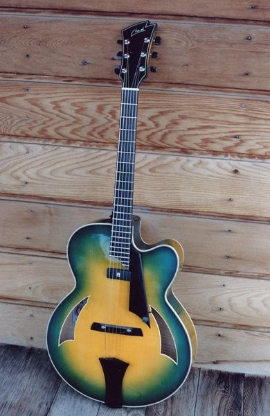 Cheval Guitars James Art  #LardysChordophoneOfTheDay ~ https://www.pinterest.com/lardyfatboy/lardys-other-fretted-chordophones-of-the-day/ ~
