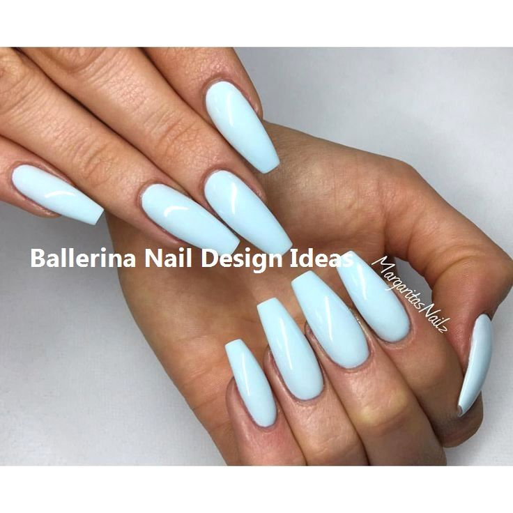 Trendy Ballerina Nail Art 2019 Nailideas Blue Coffin Nails Baby Blue Nails Trendy Nails