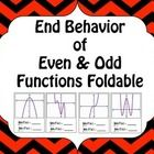A fun foldable to teach or review end behavior of even and odd polynomial functions.  ...