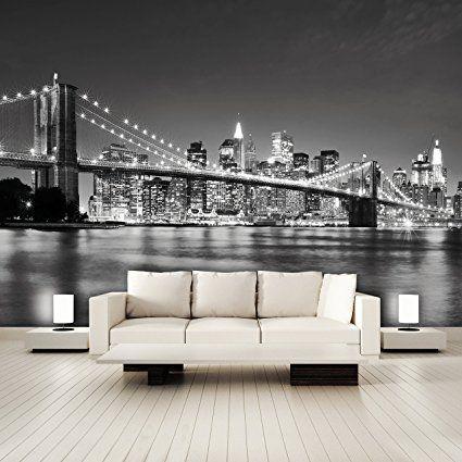 CARTA DA PARATI FOTO 'I Love New York 105' 366 x 254cm Manhattan Skyline USA grattacielo architettura città - fotomurali - poster gigante - inclusivo pasta polvere di colla NUOVA XXL